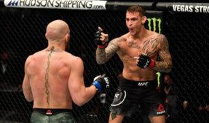 Dustin Poirier derrotó a McGregor con un burtal TKO en la estelar de UFC 257