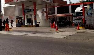 Cañete: se registró masiva fuga de gas en un grifo de Nuevo Imperial