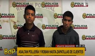 VES: capturan a dos de los tres delincuentes armados que asaltaron pollería