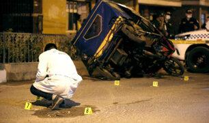 SMP: presuntos sicarios asesinan a balazos a mototaxista extranjero
