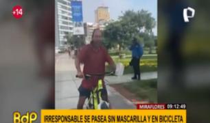 Municipalidad de Miraflores se pronuncia por caso de ciclista que circulaba sin mascarilla