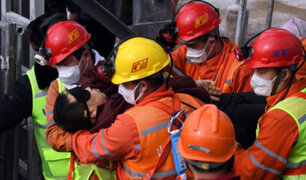 China: rescatan a 11 de 22 mineros atrapados durante dos semanas