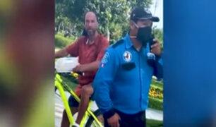 Miraflores: ciclista sin mascarilla no fue sancionado por la municipalidad