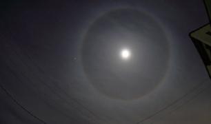 Halo lunar sorprendió a los vecinos de Lima