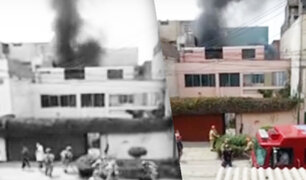 La victoria: se registró incendio en el primer piso de una vivienda en Santa Catalina