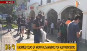 San Isidro: largas colas en supermercados tras anuncio de nuevo confinamiento