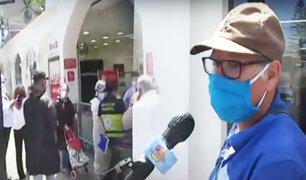 A pocos días del regreso de la cuarentena, largas colas y preocupación en las calles de Lima