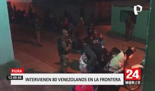 Intervienen a 80 extranjeros que ingresaron ilegalmente al país