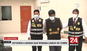 El Agustino: desarticulan a 'Los topos del cobre', banda dedicada al robo de cobre