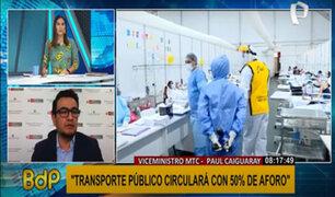 """Viceministro del MTC: """"aeropuerto Jorge Chávez no se cerrará durante confinamiento"""""""
