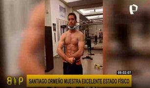 Santiago Ormeño, delantero del Puebla de México, muestra su excelente estado físico