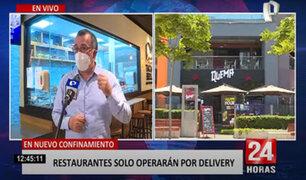 Restaurantes en crisis ante nuevo confinamiento
