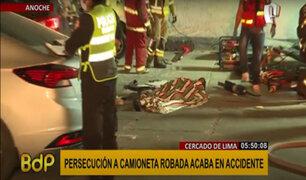 Cercado: persecución a camioneta robada causa múltiple accidente y un fallecido