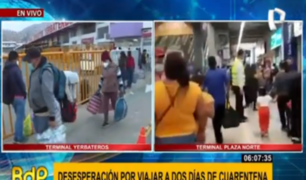 Familias viajan al interior del país a dos días de nueva cuarentena