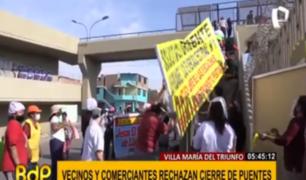 VMT: vecinos y comerciantes rechazan cierre de puentes que dan al Tren Eléctrico