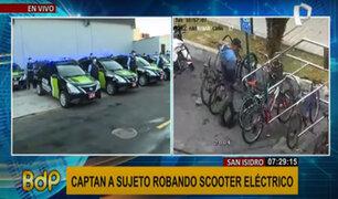 San Isidro: delincuentes se hacen pasar como dueños y roban scooters eléctricos