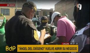 Policía busca identificar a mafias infiltradas en las largas colas por oxígeno
