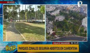 Municipalidad se rectifica y asegura que parques zonales se mantendrán abiertos en cuarentena