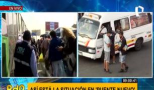 Sin 'jaladores' ni aglomeración: orden se impone de a pocos en Puente Nuevo
