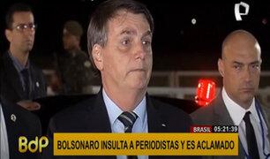 Brasil: Jair Bolsonaro insultó a la prensa de su país