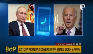 EEUU: Biden y Putin tienen su primera conversación exitosa
