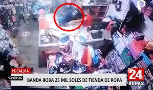 Pucallpa: roban 25 mil soles de una tienda de ropa