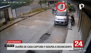 Moyobamba: ladrón que intentaba forzar la chapa de la puerta de una vivienda fue descubierto