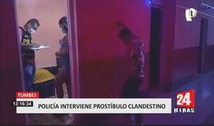 Policía interviene a más de 30 personas reunidas en un prostíbulo clandestino