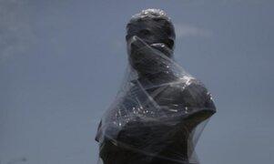 Monumentos del Centro Histórico son protegidos a un día de la marcha contra cuarentena