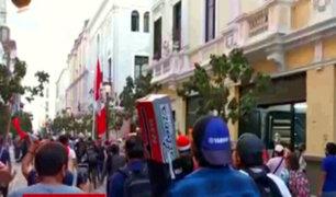 Ciudadanos marcharon en Centro de Lima contra cuarentena