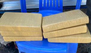 Intervienen bus interprovincial y hallan seis kilos de cocaína en mochila de un joven