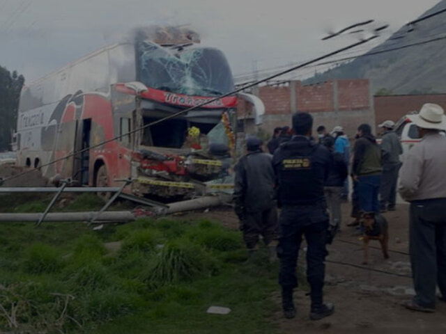Cusco: conductor de bus interprovincial en estado de ebriedad impacta contra vivienda