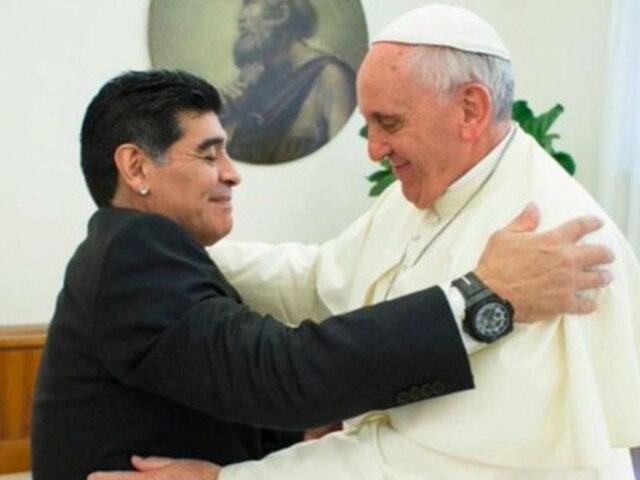 Papa Francisco: Maradona fue un gran campeón que dio alegría a millones de personas