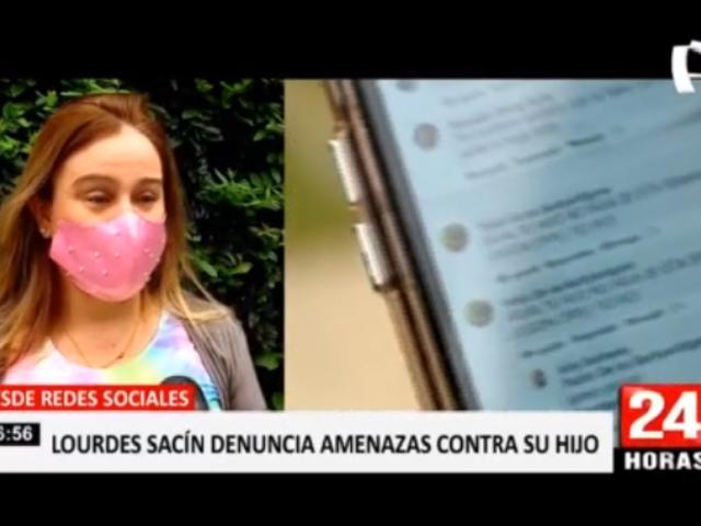Lourdes Sacín denuncia que recibe amenazas de secuestro y muerte a su hijo
