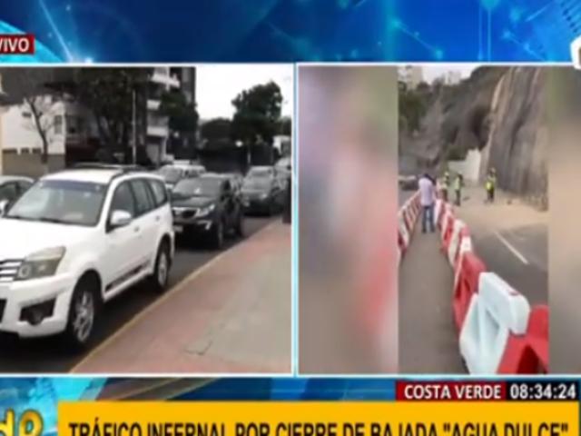 Chorrillos: gran congestionamiento tras cierre por nuevo deslizamiento en Costa Verde