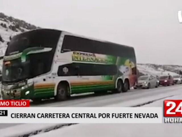 Junín: carretera central restringida por caída de nevada