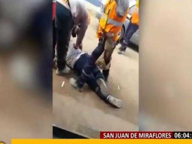 SJM: dos obreros mueren baleados por presunto cobro de cupos