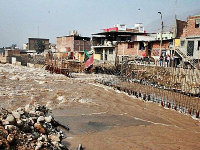Río Rímac podría desbordarse en Naña, Huachipa, Morón y Chaclacayo, según Senamhi