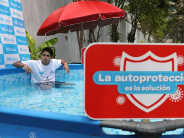 ¡Cuidado!: Mal uso de piscinas inflables produciría infecciones respiratorias y estomacales