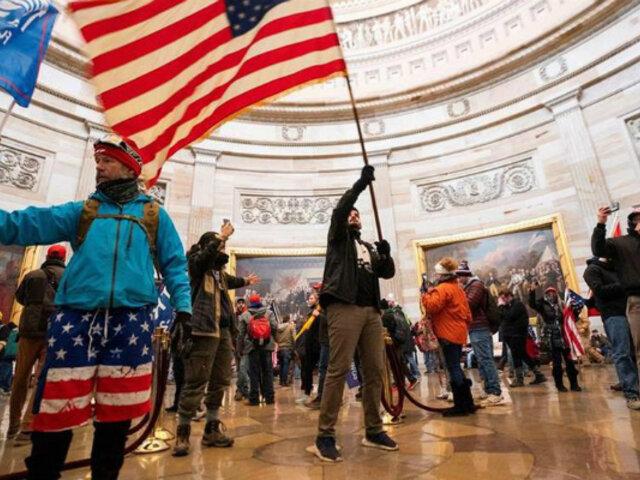 EEUU: salen a la luz videos inéditos del asalto al Capitolio