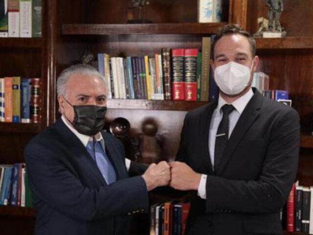 Elecciones 2021: George Forsyth se reunió con el expresidente de Brasil Michel Temer