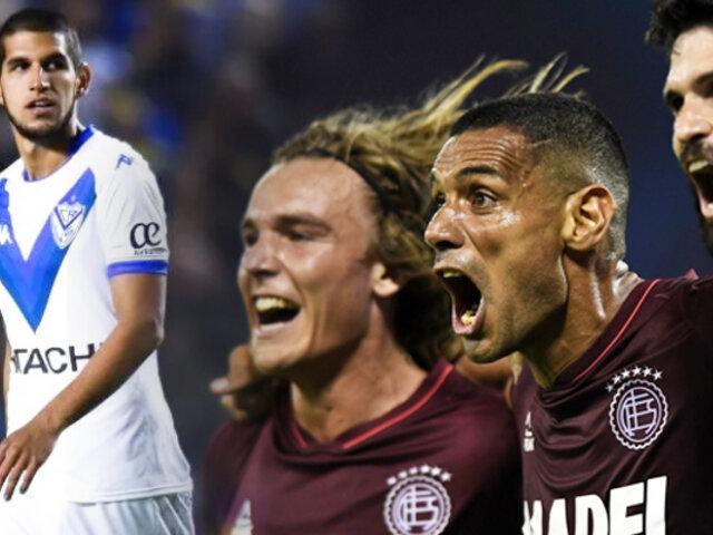 Lanús venció 1-0 a Vélez Sarsfield por la ida de la semifinal de la Copa Sudamericana