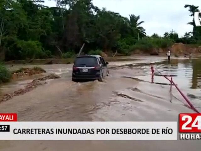 Ucayali: desborde de rio inundó carretera Curimaná–Neshuya