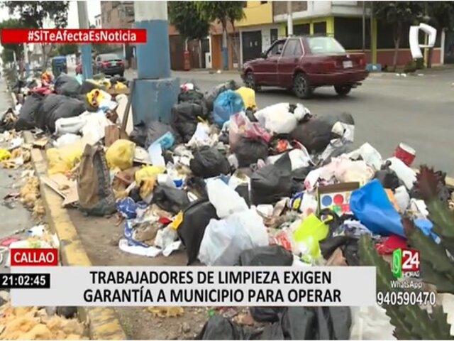 Callao: Trabajadores de limpieza no aceptan propuesta y continúan los cerros de basura en las calles