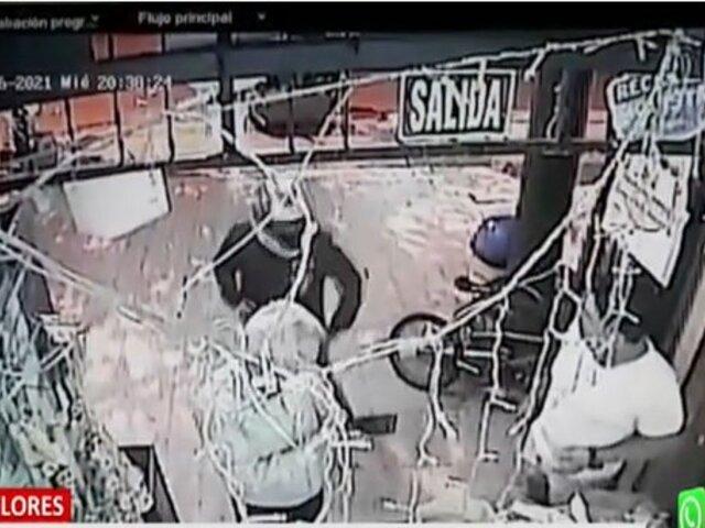 Miraflores: Delincuente armado roba a anciano dentro de bodega
