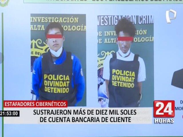Policía Nacional captura a estafadores cibernéticos