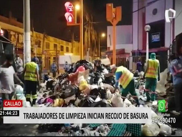 Callao: trabajadores de Eslimp iniciaron recojo de basura tras acuerdo con municipio