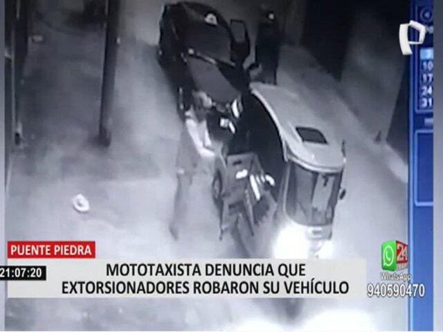 Mototaxista sufre el robo de su vehículo y lo extorsionan