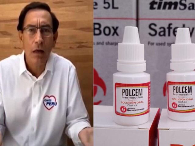 Llueven críticas a Martín Vizcarra por recomendar uso de ivermectina
