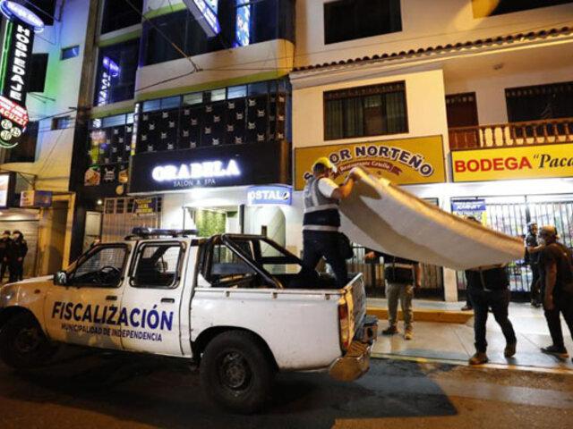 Independencia: realizan operativo contra locales donde se  ejerce la prostitución clandestina